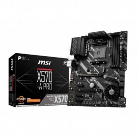 MSI X570-A Pro - Placa Base  Chipset AMD X570, DDR4, Core Boost, Intel Lan, Socket AM4, Wi-Fi, Soporta AMD Pocesadores  Color