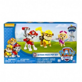Paw Patrol Action Pup 3pk Online Exclusive 1  Marshall, Rubble, Skye  - Kits de figuras de juguete para niños  Rubble, Skye ,
